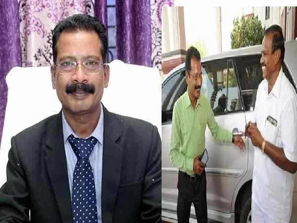 tamilnadu: collector drove his driver himself on his retirement