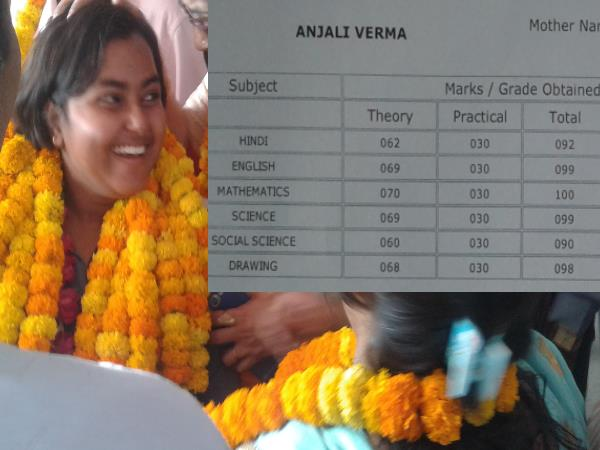 allahabad see the marksheet of up board topper anjali verma