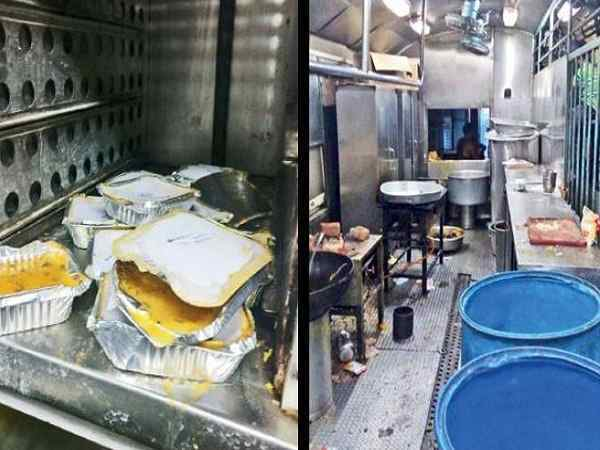 pantry car food found near toilets in several premium trains