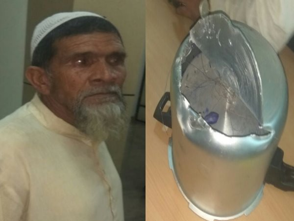shamli security forces caught a old man during smuggling of pistol