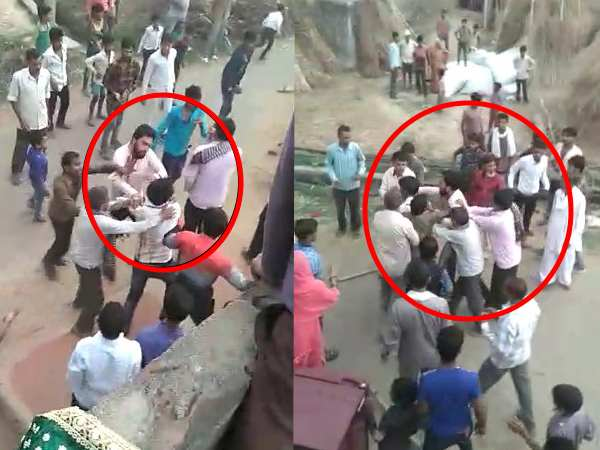 kannauj fight between 2 party in marriage goes viral