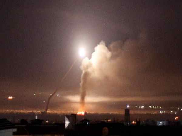 Israel launched dozens of rockets into Syria after Iranian forces attack Israeli outpost.