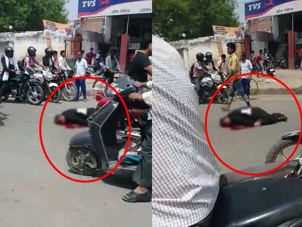 allahabad after murder of lawyer rajendra srivastava no one helps him people shoot him death video only