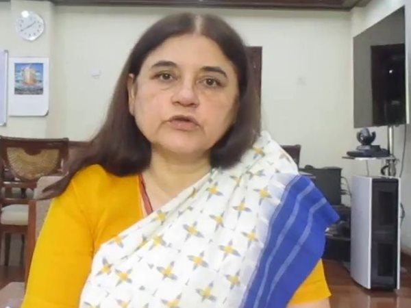 bareilly after scolding ganna kisan on viral video maneka gandhi released a news video with apology