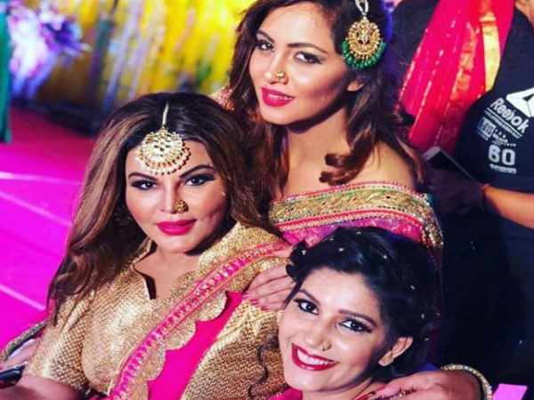 Sapna Chaudhary with Rakhi and Arshi Khan in SP leaders son marriage in Varanasi