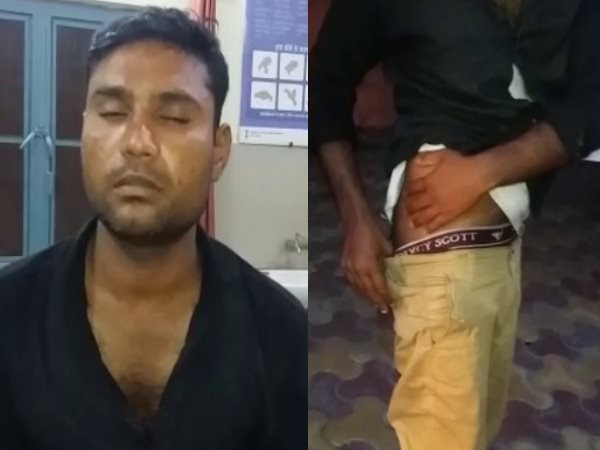 shamli police beaten a innocent man inject the petrol in his private part