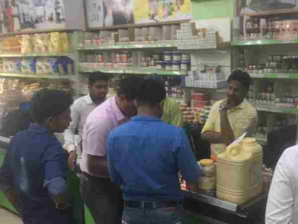 Raid on expired product of patanjali in Allahabad