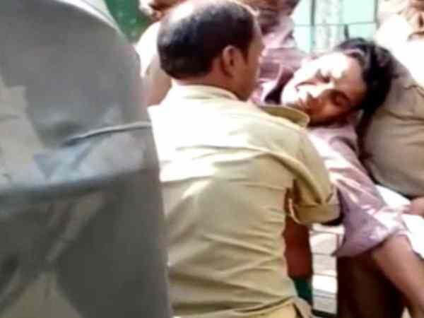 Musclemen beat a man and police sent him to jail in Hardoi