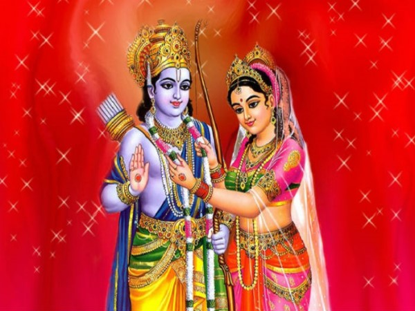 muslim family marriage card photo of lord ram and sita