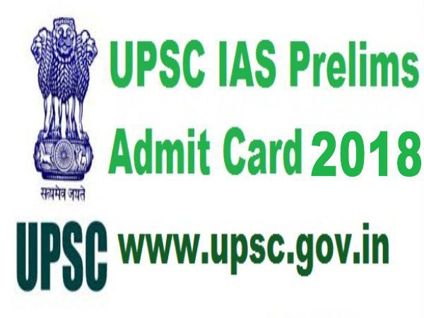 Download admit card of IAS PRE exam