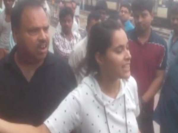 TTE made video of young woman who deboard from Rajdhani