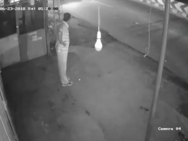 Video: Man Pretends to do Yoga Exercise, Only To Steal A Bulb. Watch