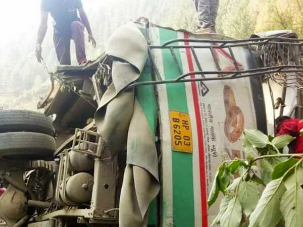 HRTC bus accident 4 people dead, 26 injured in shimla