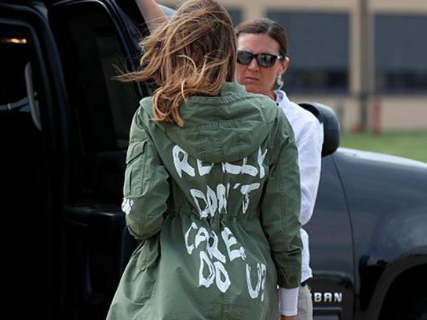 Image result for मेलानिया ट्रंप की जैकेट को लेकर विवाद