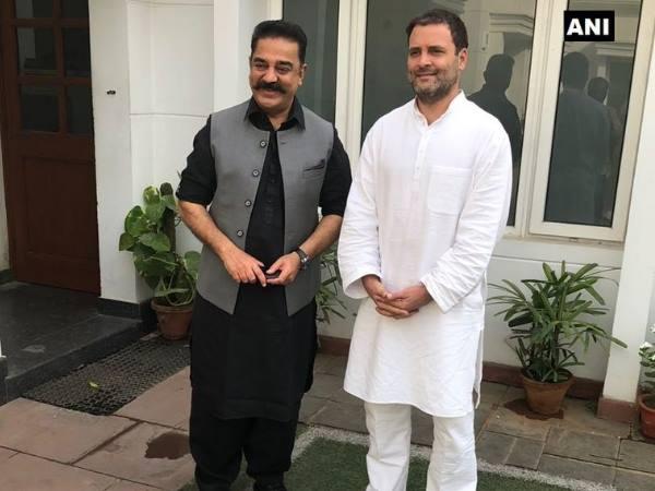 कांग्रेस अध्यक्ष राहुल गांधी से मिले कमल हासन, कहा- तमिलनाडु को लेकर हुई बातचीत
