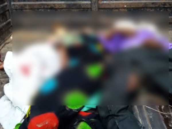 Four persons of same family died in road accident in Sambhal