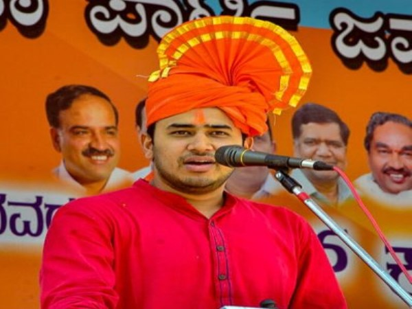 bjym leader surya controversial statement congress is muslim party bjp must defend hindus
