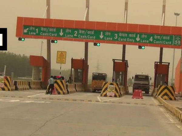 Toll Plaza On Muzaffarnagar Saharanpur Highway Painted Saffron In Color