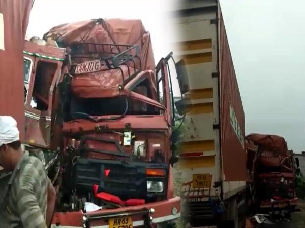 kannauj road accident in 2 men injured badly