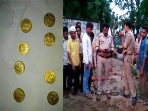 kannauj gold coins found from land during digging