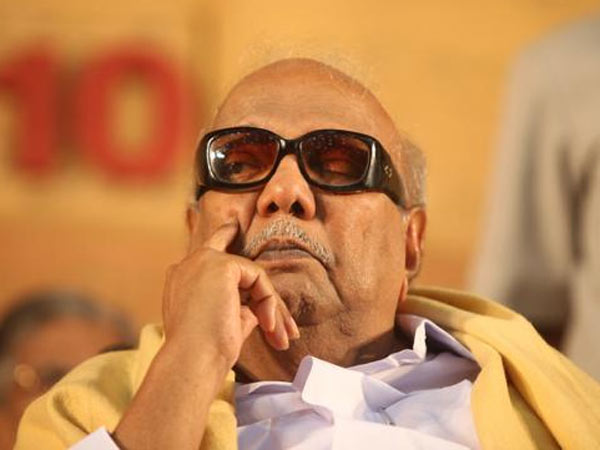 DMK Chief M Karunanidhi Hospitalised in chennai