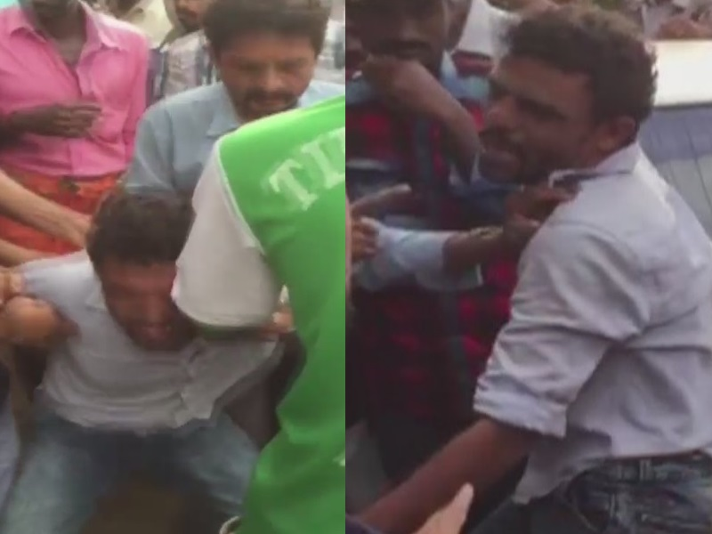 Father thrashed by mob on accusations of child lifting in karnataka