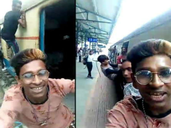Video: Mumbai Youth Snatches Phone To Make Dangerous Video On A Moving Train