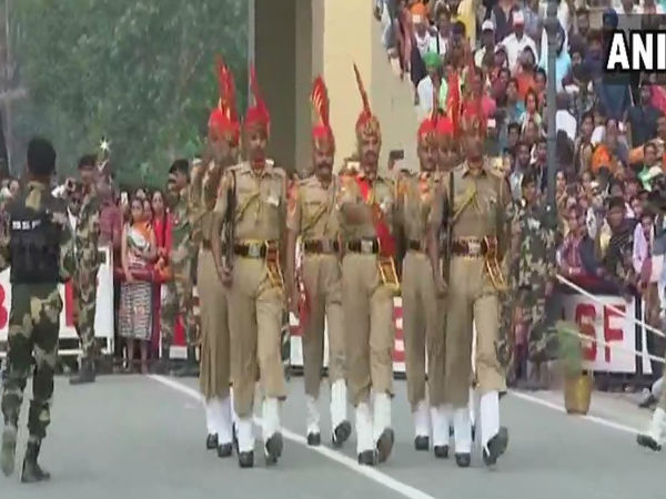 WATCH: Beating the retreat ceremony at Attari-Wagah border in Punjab