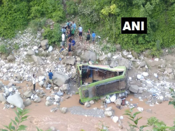 Jammu: One dead, 20 injured after a bus fell into a deep gorge near Jhajjar Kotli in Jammu And Kashmir