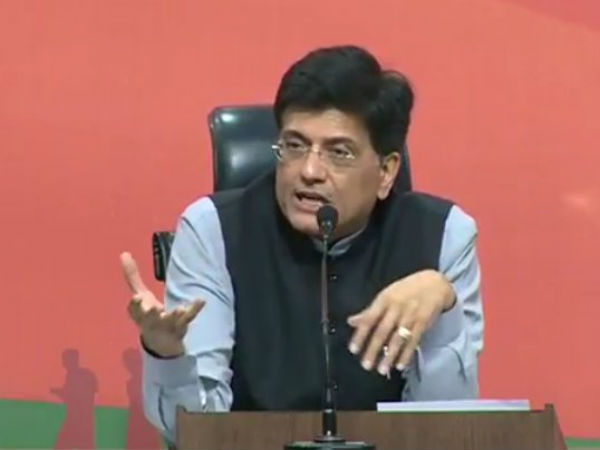 Piyush Goyal survey predicts 300 Lok Sabha seats for BJP in 2019