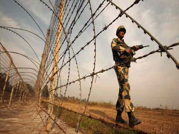 Pakistan made arms and weapons and helipad border of India