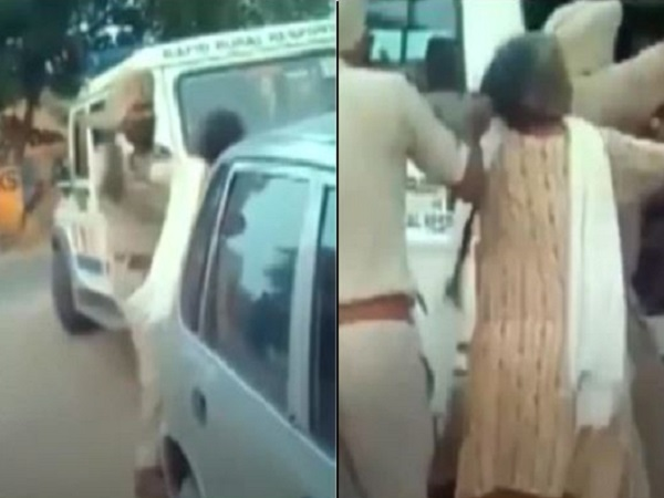Punjab policeman thrashing elderly woman, dragging her by her hair publicly