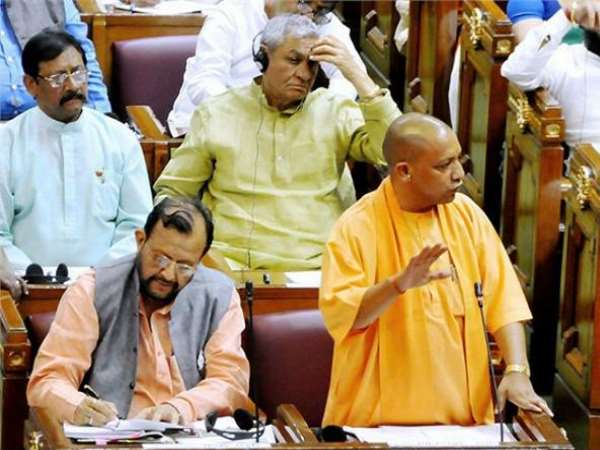 uproar in up assembly monsoon session over cm yogi snake scorpion remark on opposition