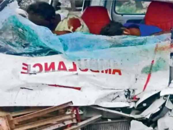 son and father dies in road accident