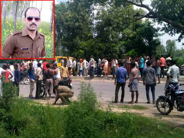 two police man killed road accident in hardoi