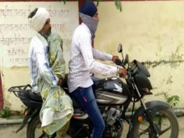 alwar parents compell to bring its daughters deadbody on bike
