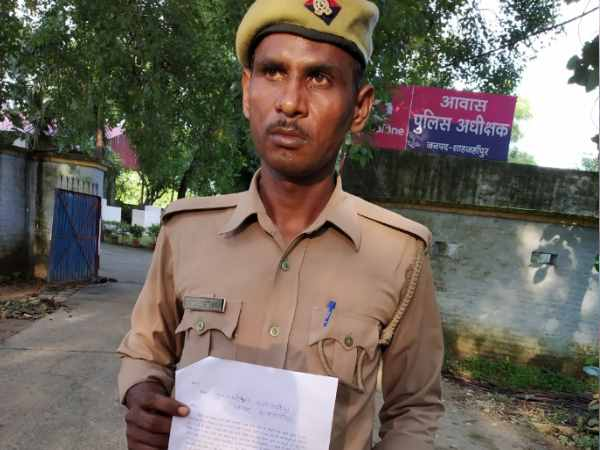 home guard has threatened his life with police constable
