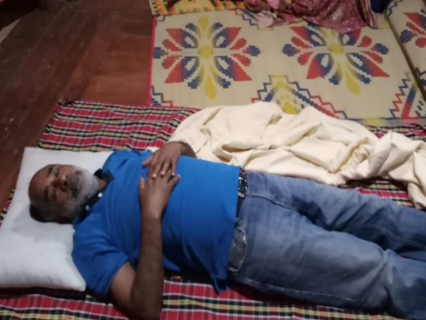 Union Minister KJ Alphons trolled after posts a photo of sleeps in Kerala relief camp
