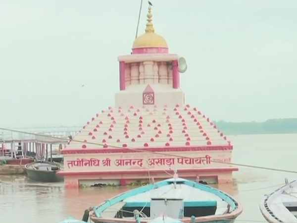 Varanasi Water level in river Ganga flowing near to danger mark