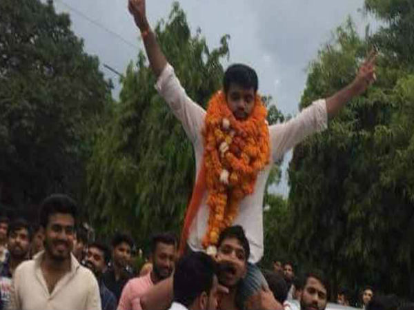 DUSU Elections 2018: ABVP candidates won the posts of president, vice president & joint secretary respectively.