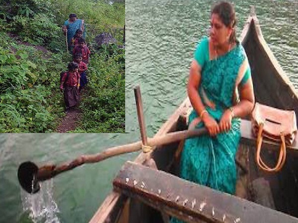 Ushakumari teacher rows boat, trek kilometres to teach a tribal school in Kerala