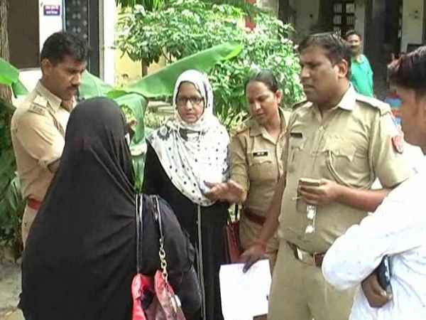woman reached the police station with complaint of husband