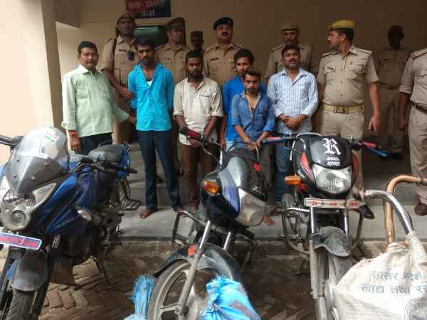 bike thief gang caught 9 bikes recovered in Mirzapur
