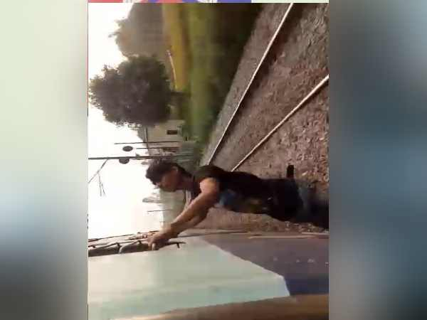 boy does stunning stunt on the train, video goes viral