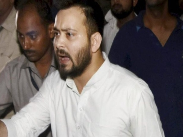 Srijan scam: to save Sushil Modi, IT raids in his sisters house, says Tejashwi Yadav