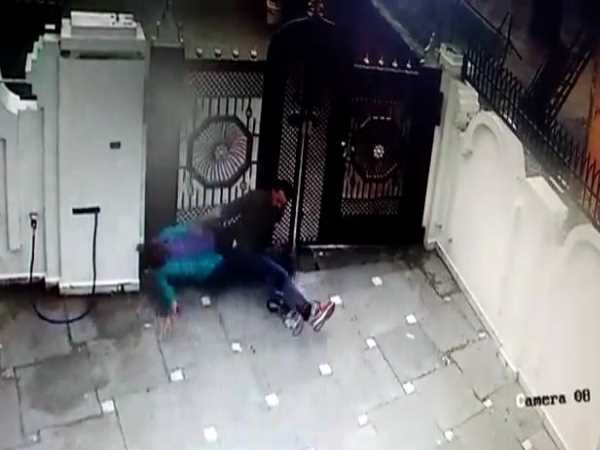 Husband beat her wife brutally video goes viral