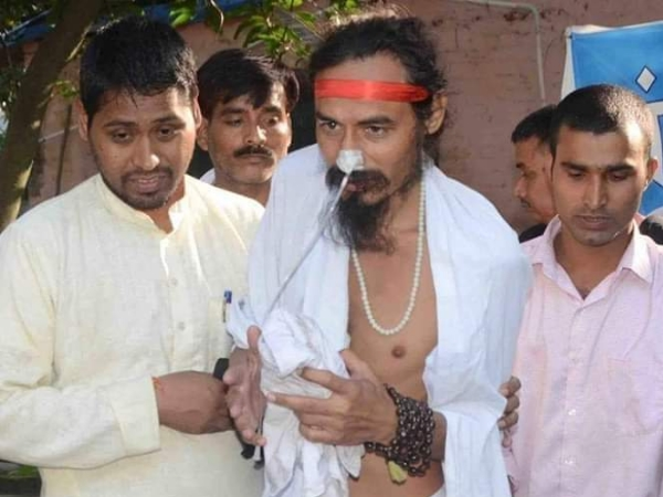 Sant Gopal Das who is on an indefinite fast to save river Ganga has been admitted to AIIMS