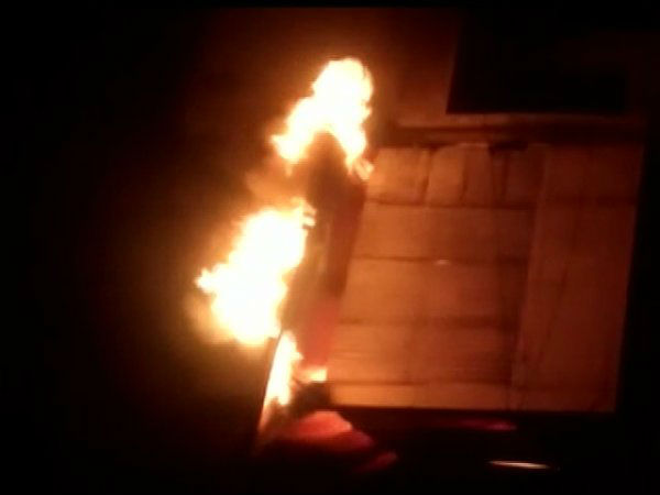 Meerut: Fire broke out at a curtain & mattress godown in Shastri Nagar Central Market on late Thursday night.