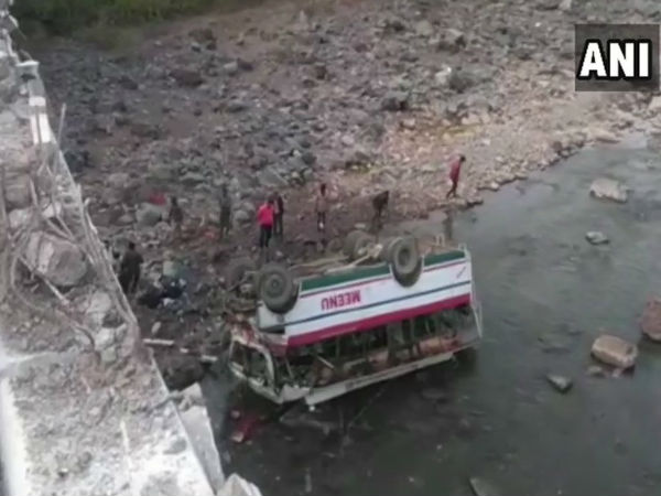 Himachal Pradesh: Nine persons died after a private bus fell in a gorge near Dadahu in Sirmaur. Rescue & relief operations underway
