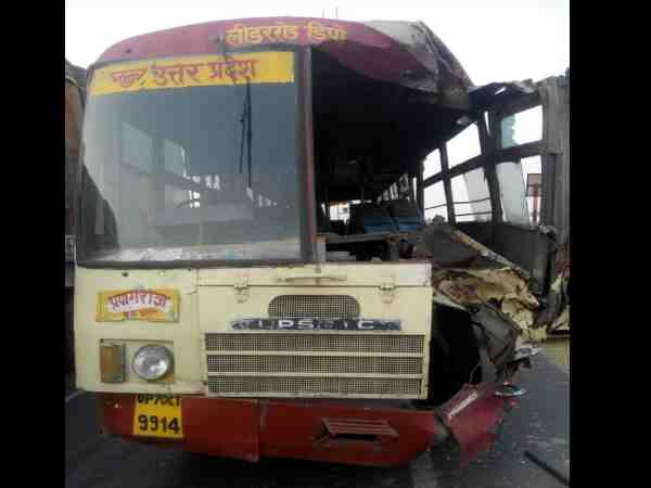 many injured in an accident at kanpur allahabad national highway